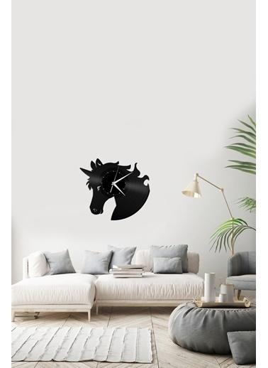 Angemiel Home At FigürlüPleksi Duvar Saati Siyah